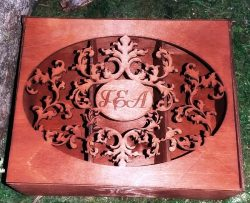 Wooden Tea Box For Laser Cut Free DXF File
