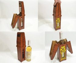 Wooden Wine Box Download For Laser Cut Free DXF File