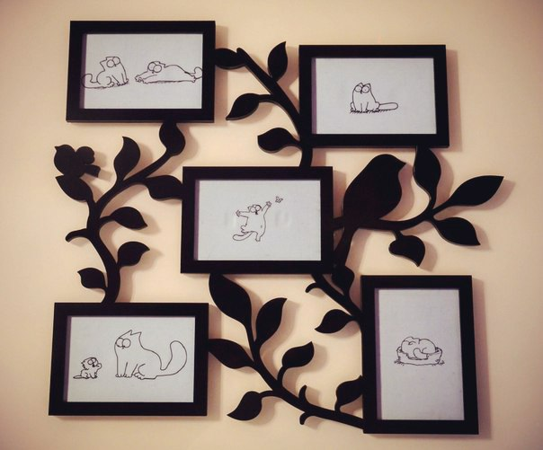 Family Tree With Photo Frames For Laser Cutting File Free CDR Vectors Art