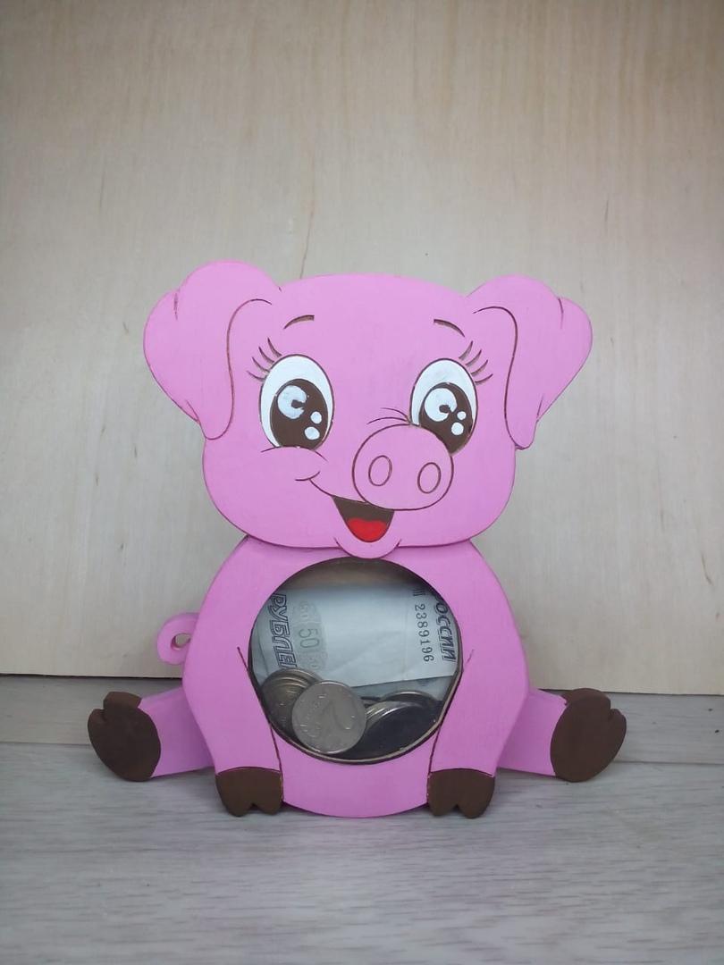 Laser Cut Children Piggy Bank File Free CDR Vectors Art