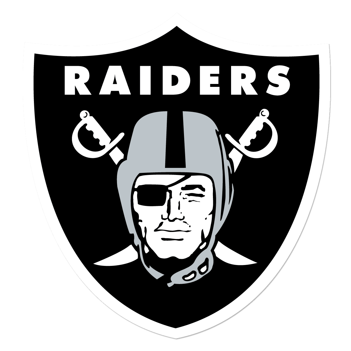 250px Oakland Raiders Free DXF File