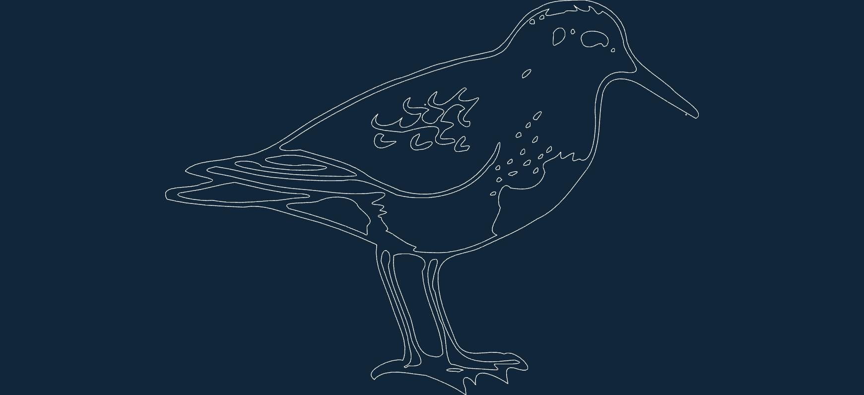 Bird Sitting Free DXF File