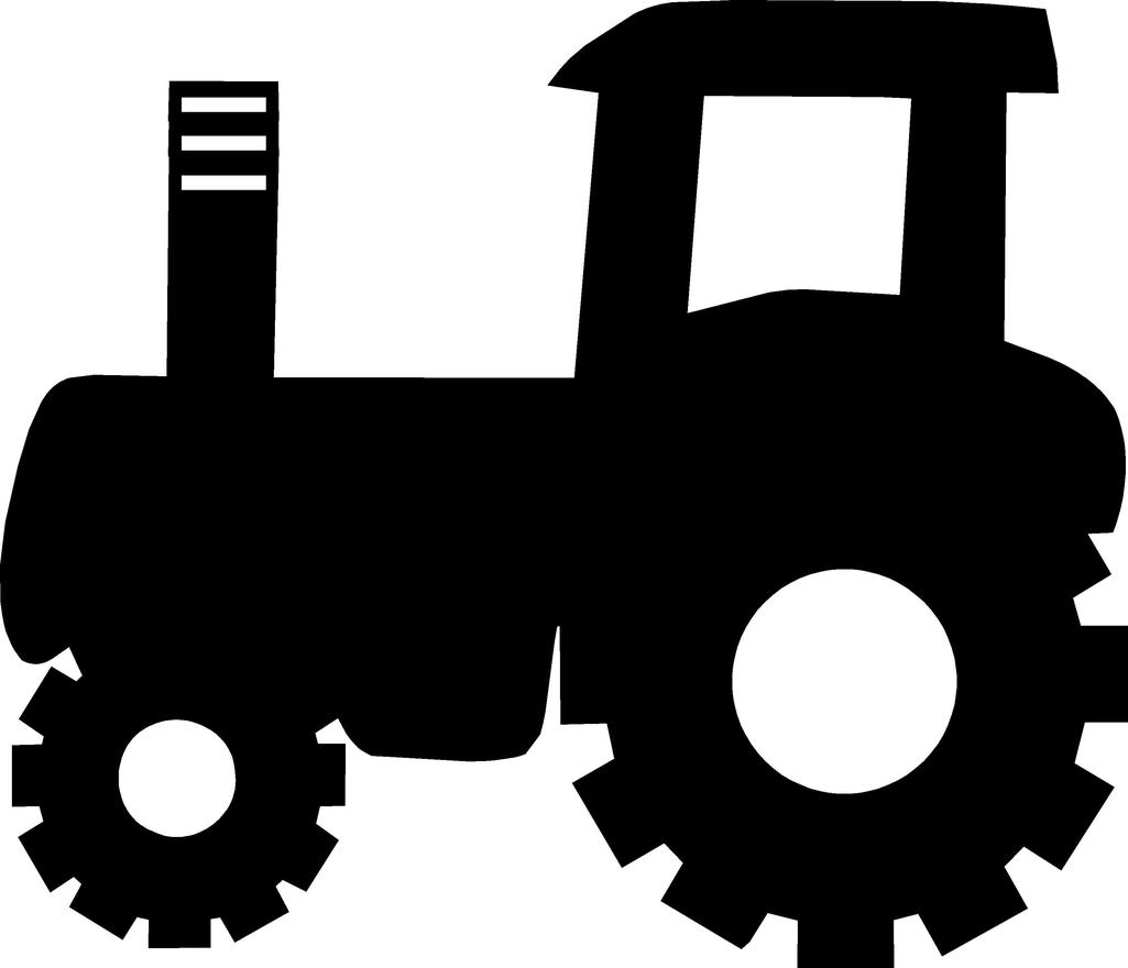 Black Tractor Free DXF File