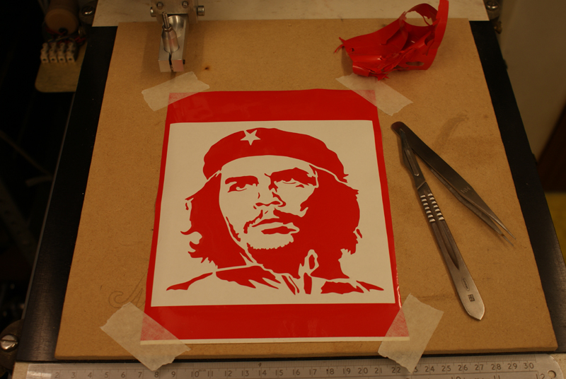 Che Guevara Free DXF File