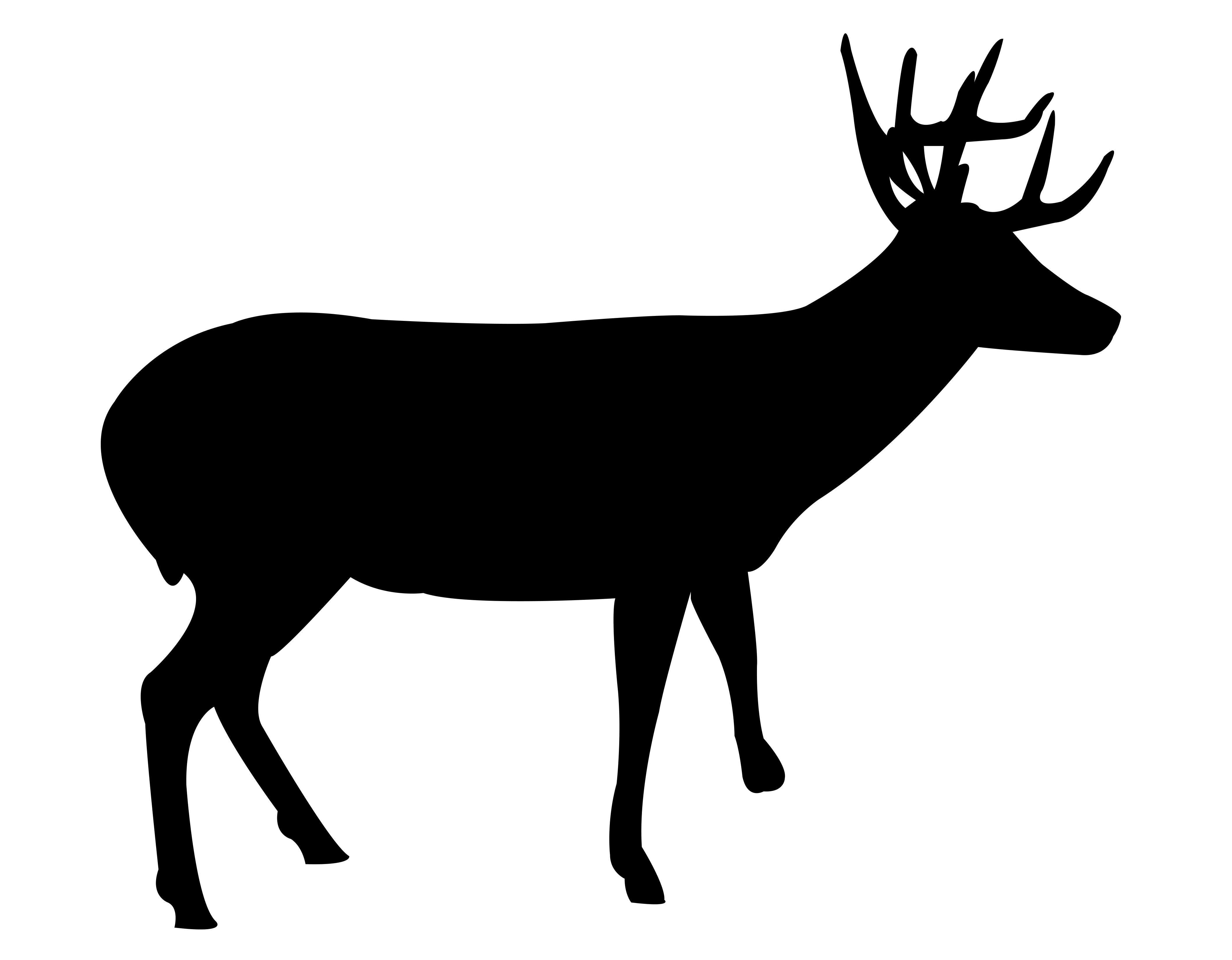 Deer Silhouette Free DXF File
