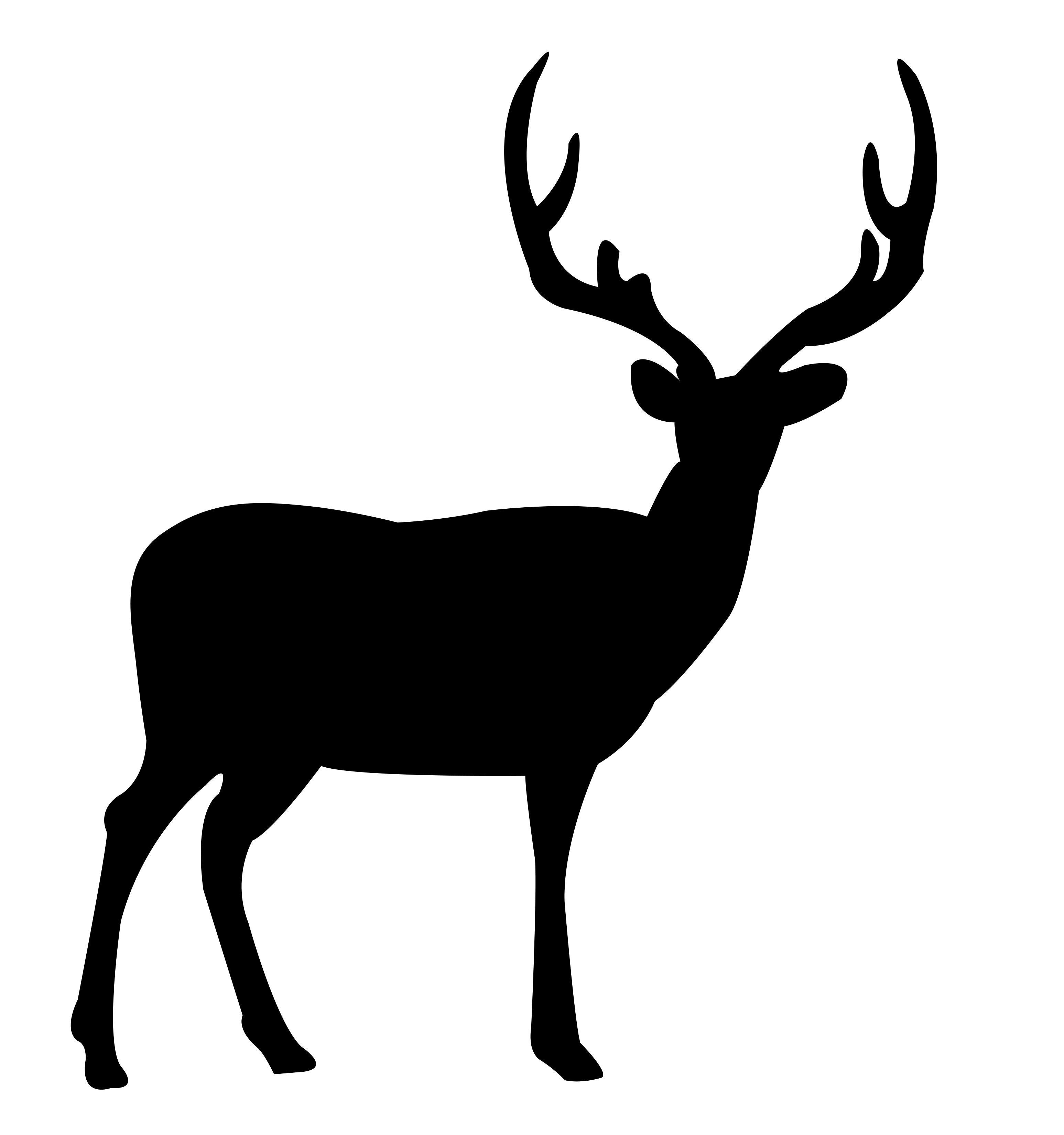 Deer Standing Free DXF File