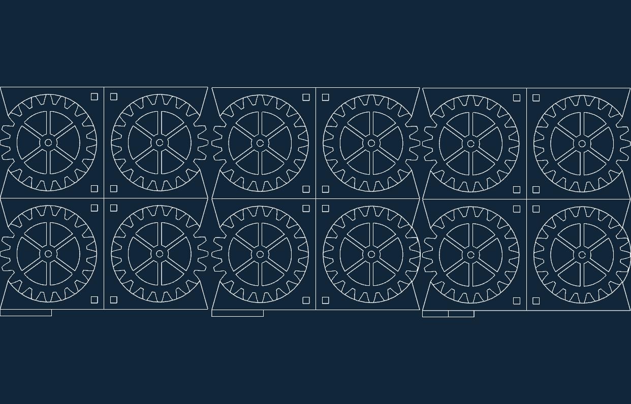 Gear Coasters In Mm Free DXF File