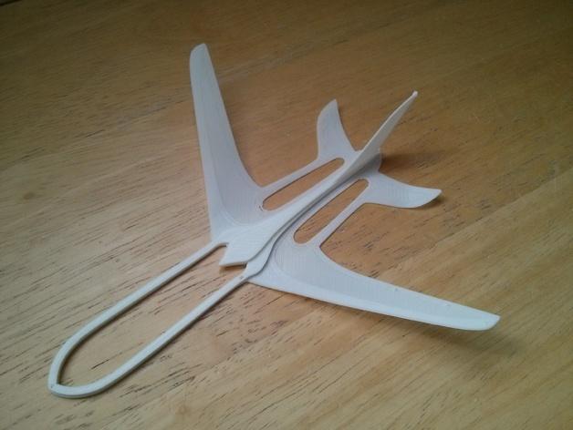 Glider Aeroplane Free DXF File