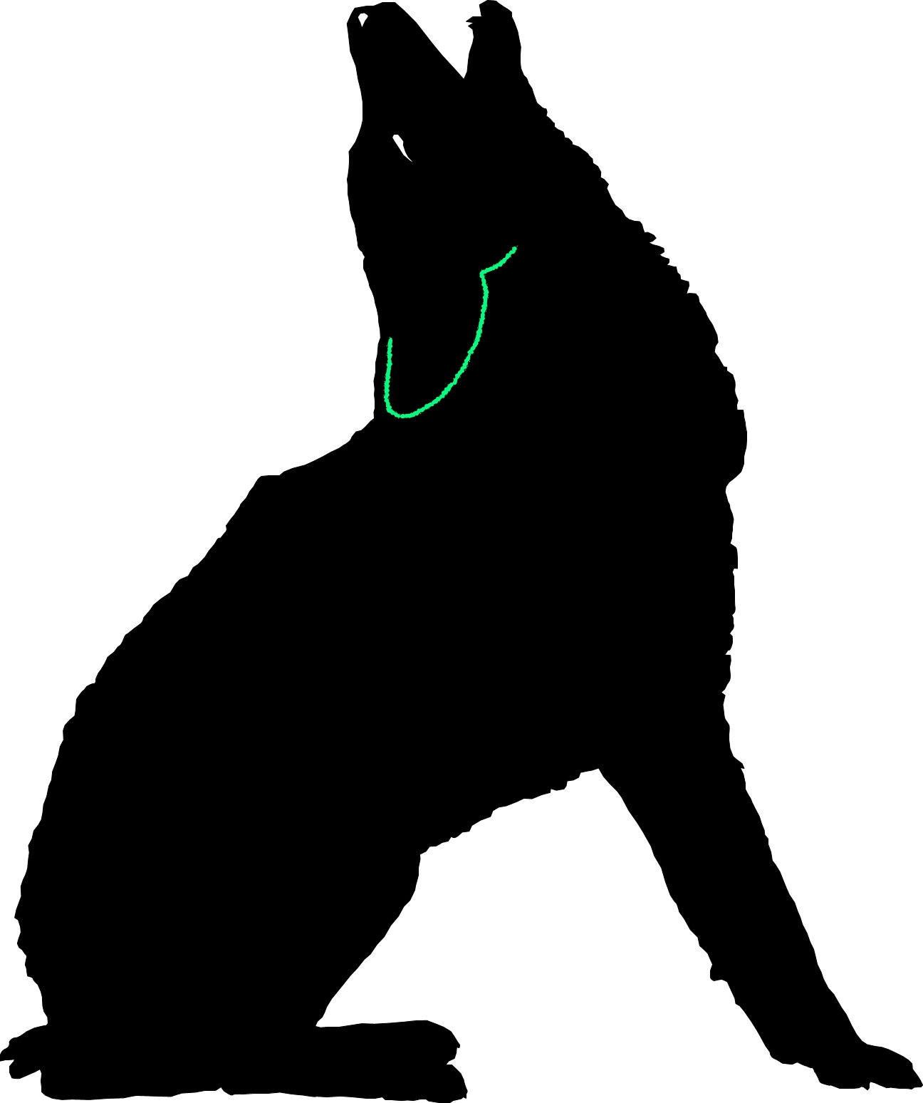 Howling Coyote Free DXF File