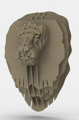 Lion Head Free DXF File