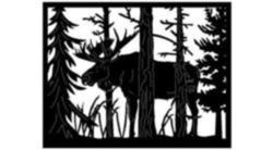 Moose In Jungle Free DXF File