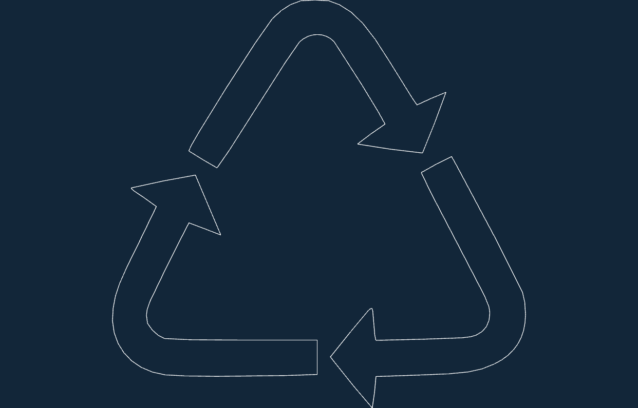 Recycling Symbol Dxf Free DXF File