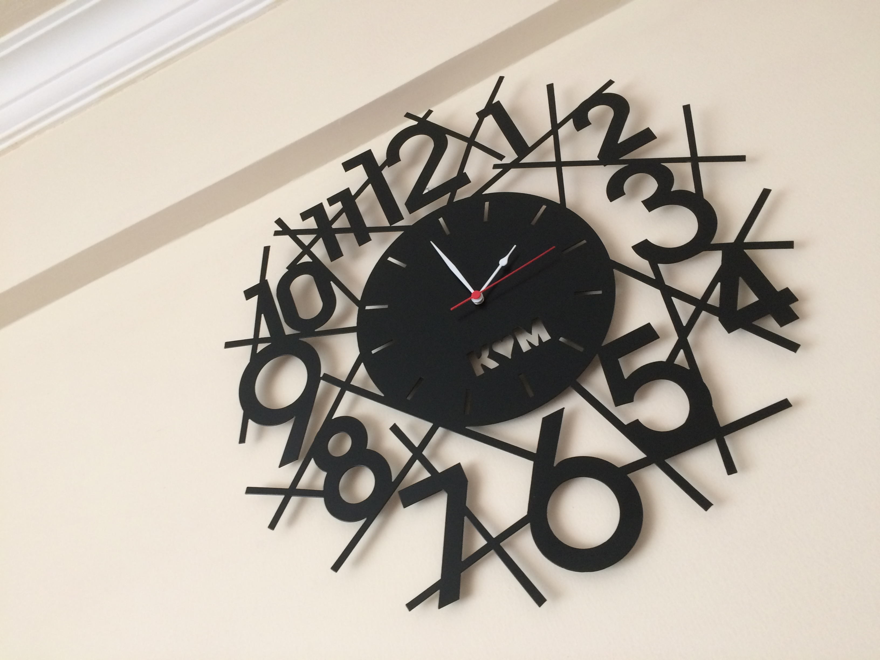 Wall Clock Design Free DXF File
