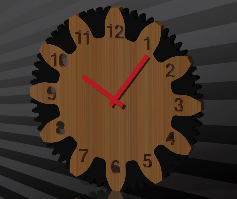 Wall Clock Free DXF File