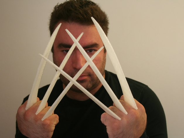 Wolverine Claws Free DXF File