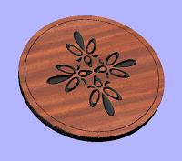 Wooden Ornament Design Free DXF File