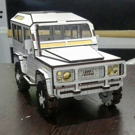 Land Rover Defender Laser Cut 3d Model Kit Free DXF File