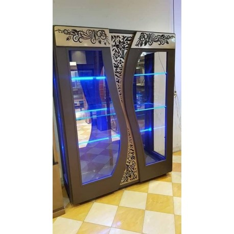 Laser Cut Decorative Wardrobe Doors Design Free DXF File