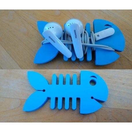 Laser Cut Fish Earbud Holder Free DXF File