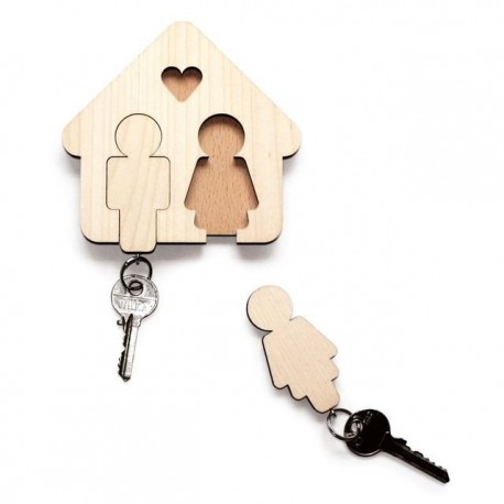 Laser Cut Key Hanger For Couple Free DXF File