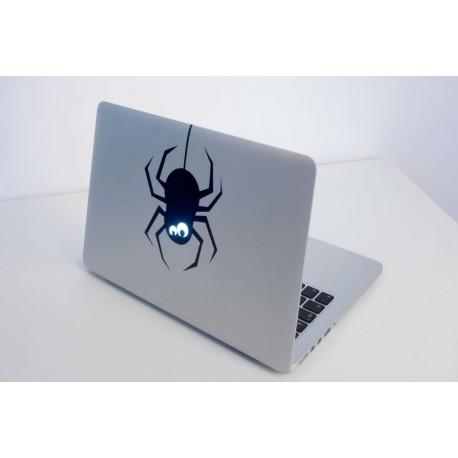 Laser Cut Laptop Sticker Spider 12x20cm Free DXF File