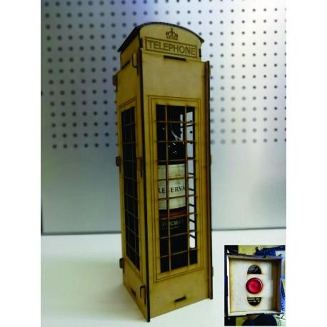 Laser Cut London Telephone Box Wine Holder Box Free DXF File