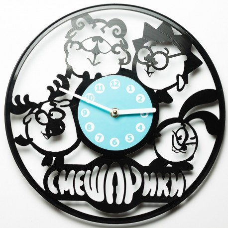 Laser Cut Wall Clock Kikoriki Smeshariki смеша́рики Free DXF File