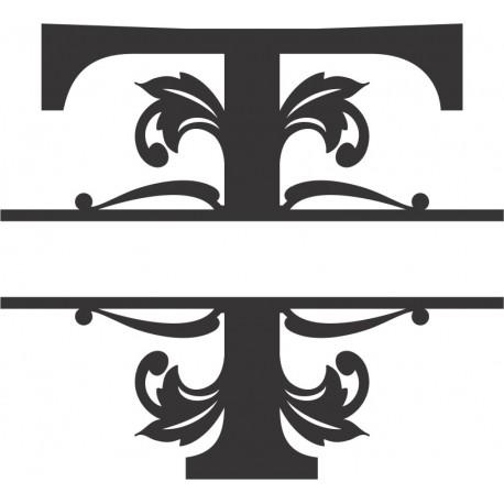 Regal Split Font T Free DXF File
