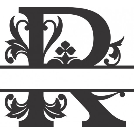 Regal Split Font R Free DXF File