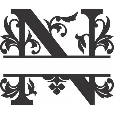 Regal Split Font N Free DXF File