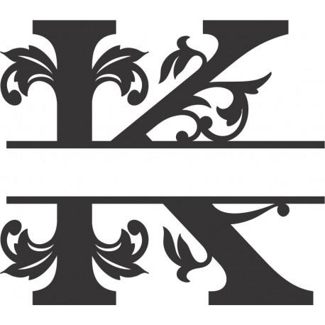 Regal Split Font K Free DXF File