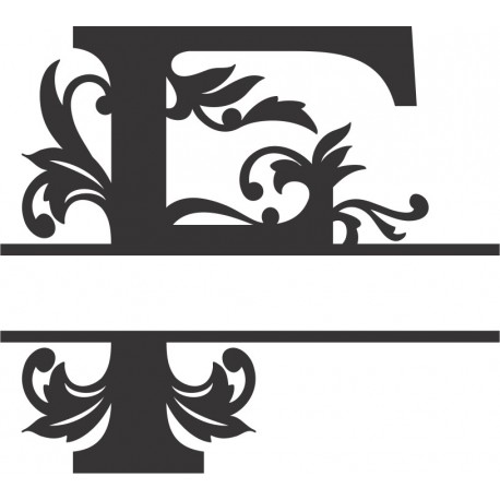 Regal Split Font F Free DXF File