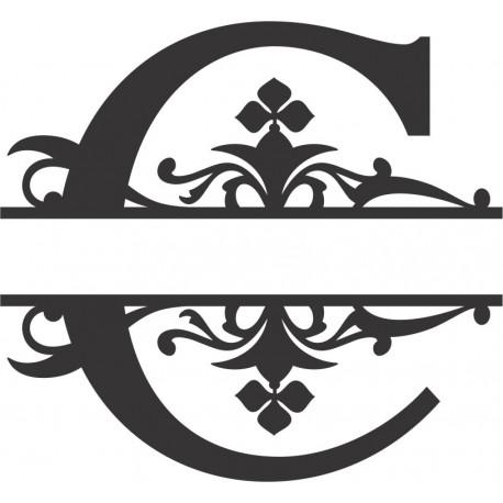 Regal Split Font C Free DXF File