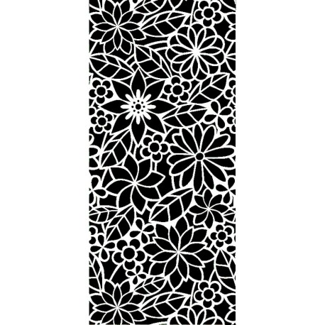 Abstract Floral Design Pattern Free DXF File