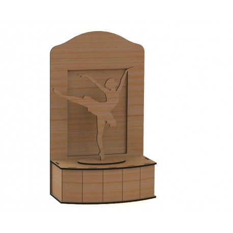 Laser Cut Ballerina On Stage 3d Free DXF File