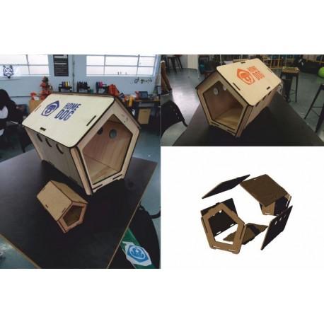 Laser Cut Dog House Free DXF File