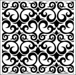 Carved Wood Vector Download For Laser Engraving Machines Free DXF File