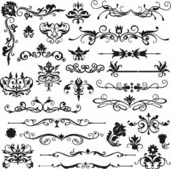 Decor Elements Download For Laser Cut Free DXF File