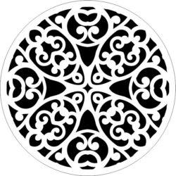 Decorative Motifs Circle k303 Download For Laser Cut Free DXF File