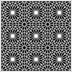Flower Decorated Square Download For Laser Cut Free DXF File