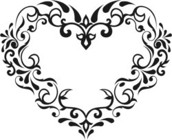 Flower Heart Download For Laser Cut Free DXF File