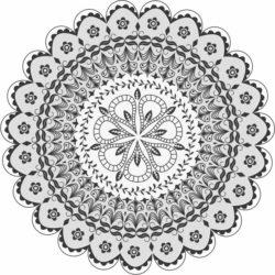 Mandala Download For Print Or Laser Engraving Machines Free DXF File