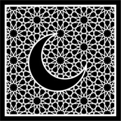 Moon With Squares Download For Laser Cut Free DXF File