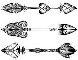 Unique Decorative Arrows Download For Laser Engraving Machines Free DXF File