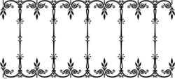 Unique Decorative Frame Download For Laser Engraving Machines Free DXF File