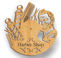 Barber Shop Wall Clock Download For Laser Cut Free CDR Vectors Art
