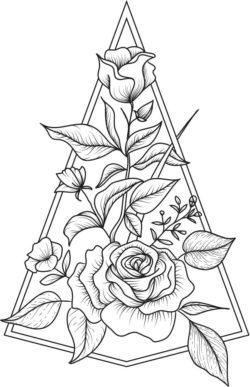 Decoration Rose Download For Laser Engraving Machines Free CDR Vectors Art