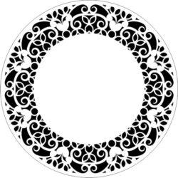 Decorative Motifs Circle k301 Download For Laser Cut Free CDR Vectors Art