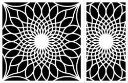 Decorative Motifs Sunflower Download For Laser Engraving Machines Free CDR Vectors Art