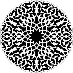 Arabic Circle For Laser Cut Free DXF File